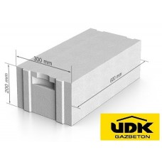 Газобетон UDK D500 300x200x600