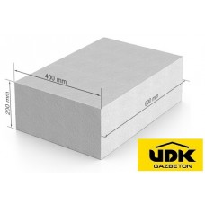 Газобетон UDK D400 400x200x600